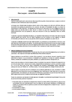 Charte Plan Langues